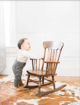 Toddler Rocking Chair Styled Shoot
