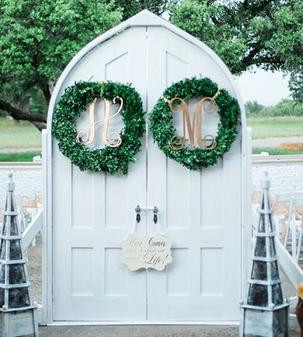 Custom made stand up church doors. They open and close, and will make an unforgettable grand entrance!