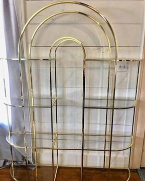 rande Brass & Glass Arch Shelf