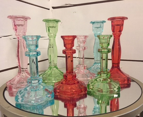 Colored Crystal Candlesticks