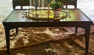 Dark stained coffee table