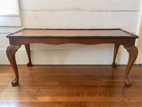 Dark Wood Queen Anne Coffee Table