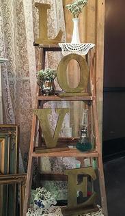 Vintage Ladder + Love Letters