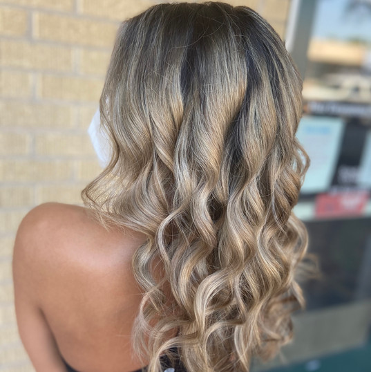 Beautiful hair at DumBlonde Smart Hair in Fort Worth