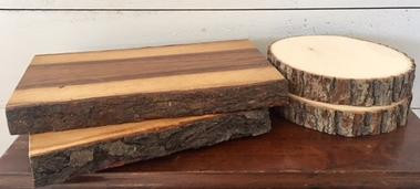 Long & Round Wood Slices