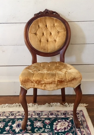 """""""Marigold"""" Gold Parlor Chairs"""
