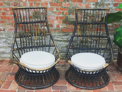 """Phoenix"" Rattan Low Side Chairs"