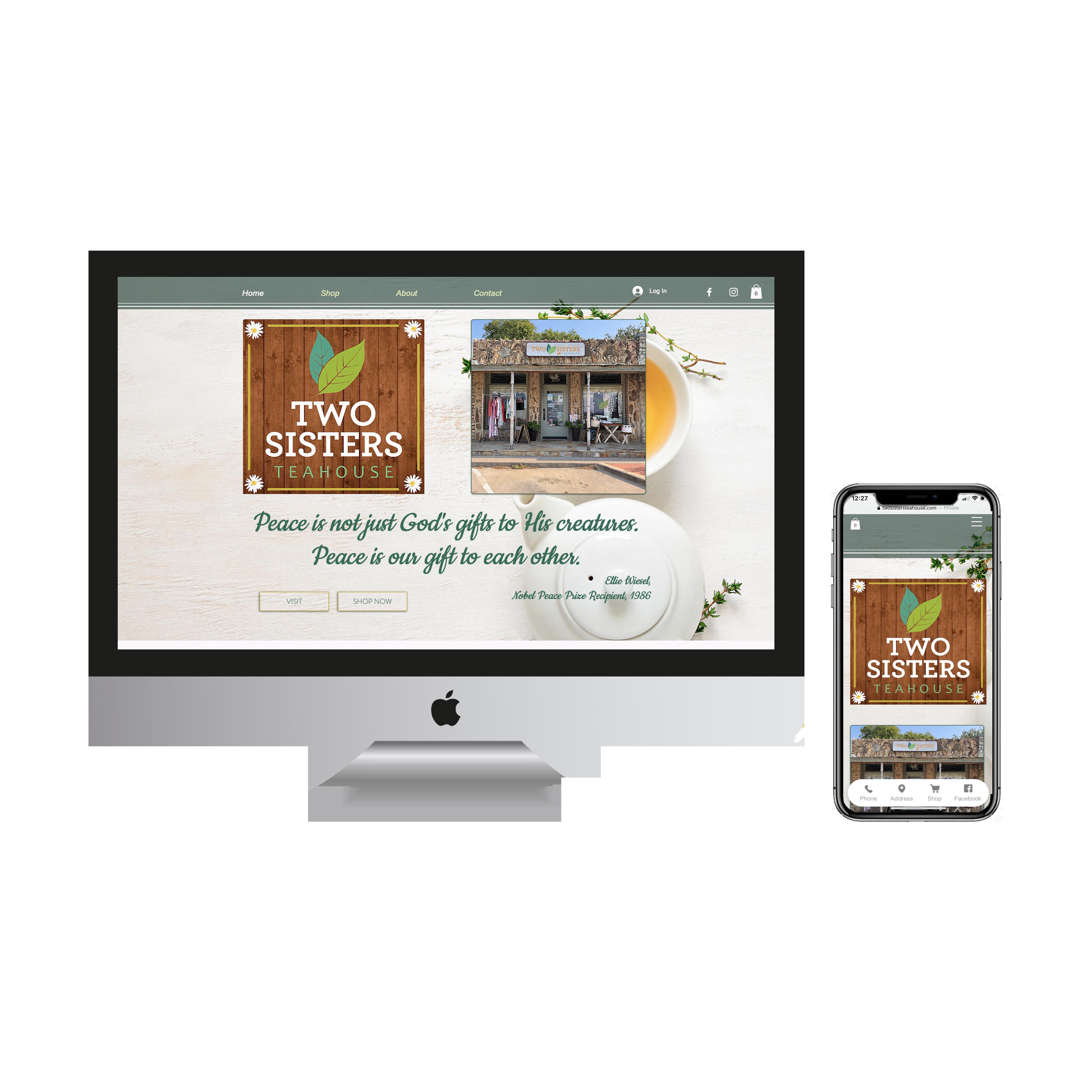 Two Sisters Tea E-Commerce Website