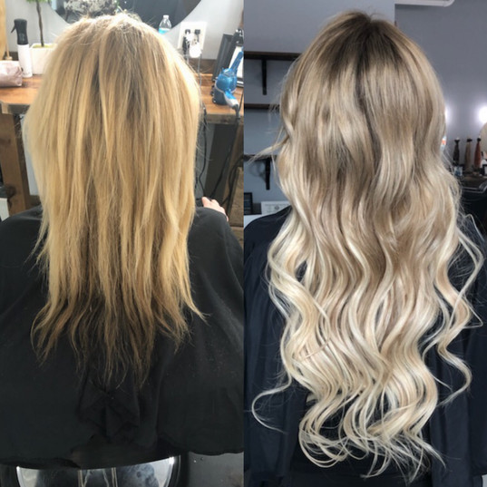 Before and After Smart Hair Extensions