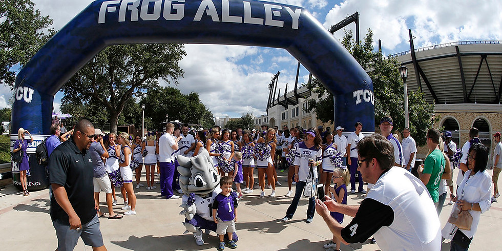 TCU Frog Alley 11/9 at 8:00am