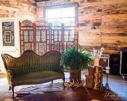 Green Couch Lounge Area