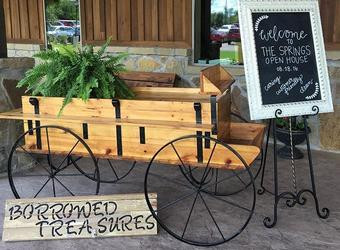 Rustic Buckboard Display Wagon (8ft)
