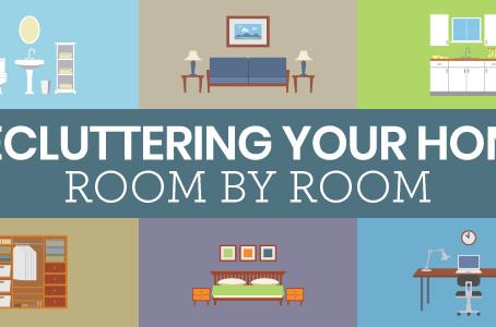 WAYS TO START DE-CLUTTERING YOUR ROOMS!
