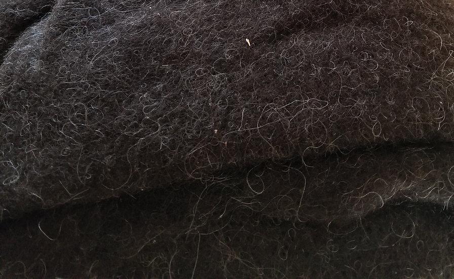 Black Mouflon Needle Felted Batting Yardage