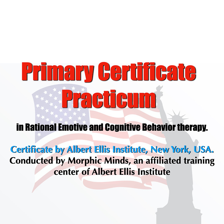 Primary Certificate practicum in Rational Emotive and Cognitive Behavior therapy