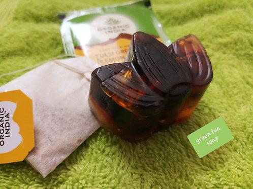 Green Tea Scrub Soap Bar (Anti - Oxidant Scrub Soap Bar)
