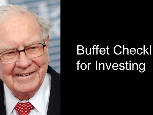 Buffet's Checklist for Great Investments