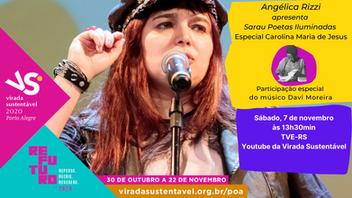 Angélica Rizzi apresenta Sarau Poetas Iluminadas na Virada Sustentável