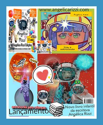 Livro infantil Lia, a astronauta