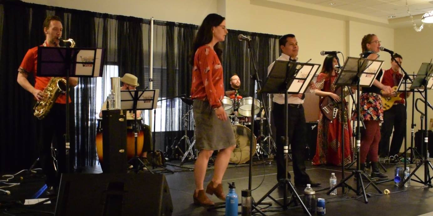 LatinRev Band in Lethbridge Fundrasing Performance to support our CONSTRUCTION
