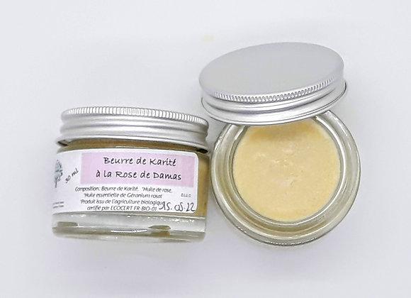 beurre de karité nature et à la roses de dams Bio chafia boutique sur chafia.fr