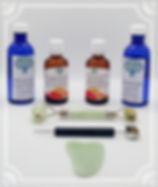 outils et produits utilisés pendant la séance de réflexologie faciale