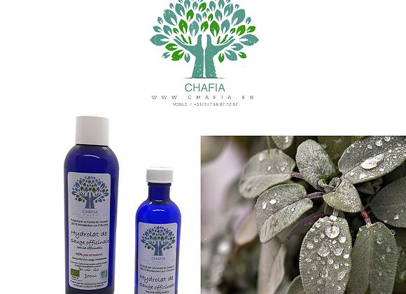 hydrolat de sauge bio de la boutique bio chafia.fr en soins et santé