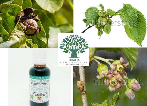 """complexe de bourgeons Bio """"peau saine"""" en gemmothérapie de la boutique Bio en soins et santé de Chafia.fr"""