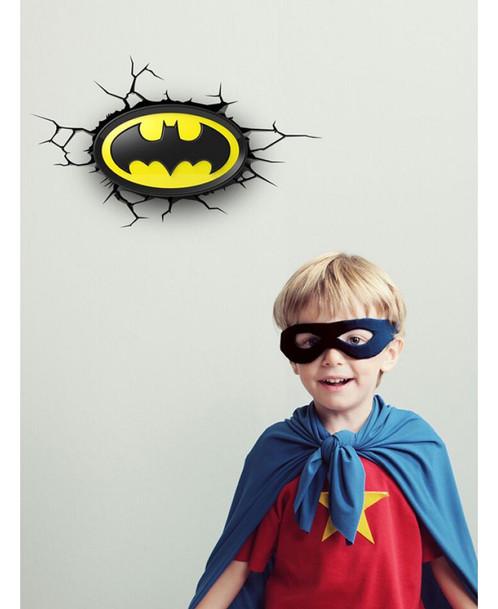 Batman logo 3d led wall light toddler kids bedding south batman logo 3d led wall light mozeypictures Images