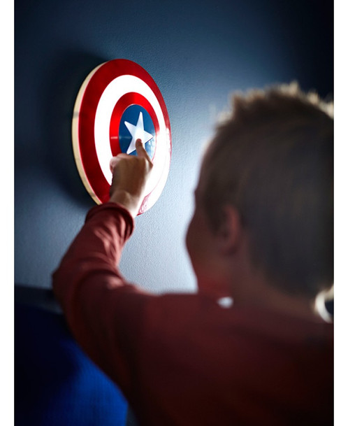 Marvel 3d wall light captain america shield toddler kids marvel 3d wall light captain america shield aloadofball Image collections