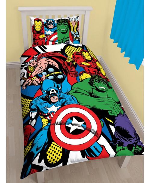 Marvel Comics Kapow Single Duvet Cover Set Panel Design