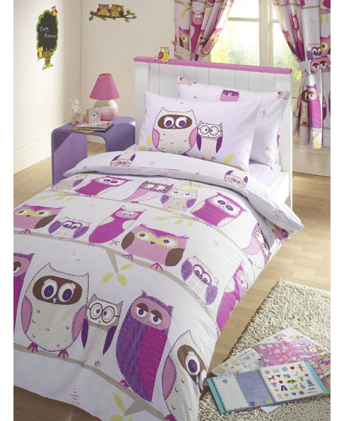 size bed owl pillow big cover set king quilt queen twin pcs happy duvet comforter covers pillowcases