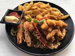 Shrimp & Squid in Squid Salt