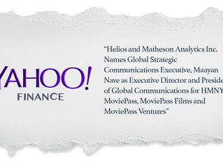 From the Media: Yahoo Finance