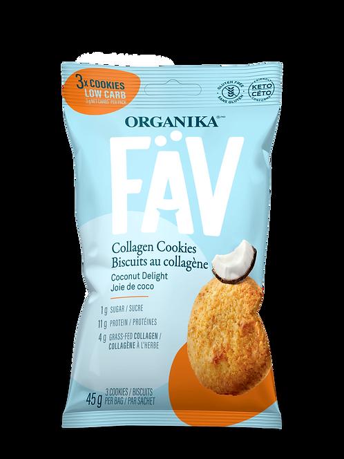FÄV COLLAGEN COOKIES – COCONUT DELIGHT 45G (3 cookies)