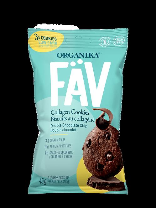 FÄV COLLAGEN COOKIES – DOUBLE CHOCOLATE CHIP 45G (3 cookies)