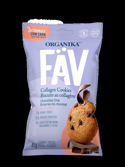 FÄV COLLAGEN COOKIES – CHOCOLATE CHIP 45G (3 cookies)