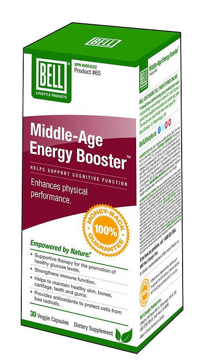 Middle-Age Energy Booster 30 capsules, 706 mg each
