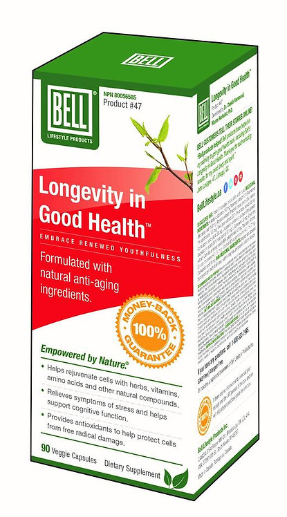Longevity in Good Health 661 mg x 90 capsules.