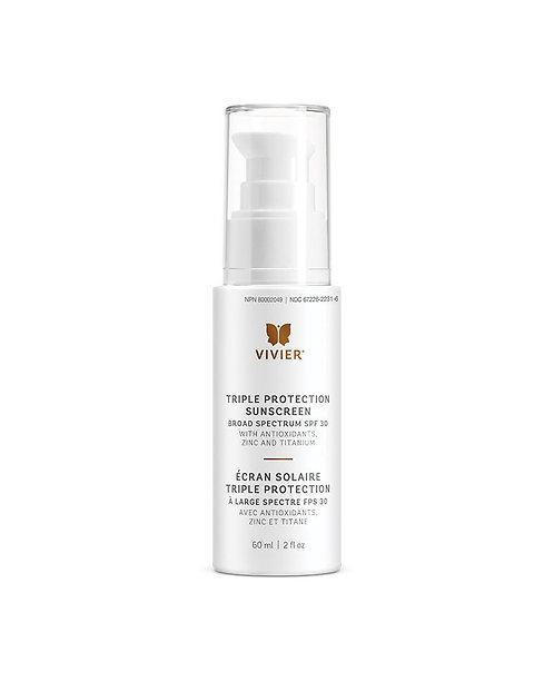 Vivier Triple Protection Sunscreen Broad Spectrum SPF 30 60ml