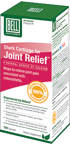 Shark Cartilage for Joint Relief 750mg x 100 Capsules