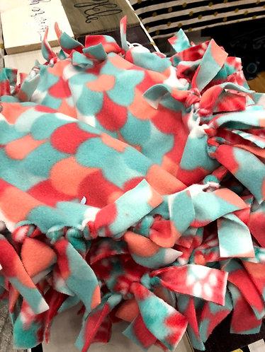 Mounts and Tie dye Paw Prints Lap/Pet Blanket