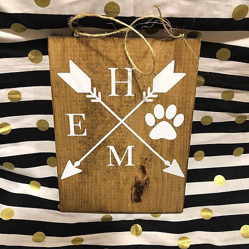 Home Arrow with Paw