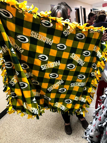 Packer Plaid Lap/Pet Blanket