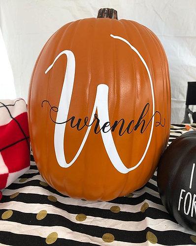 Custom Name Pumpkin
