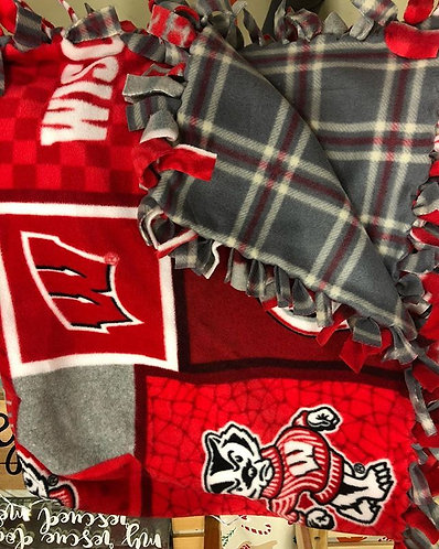 Wisconsin Badgers Square | Plaid