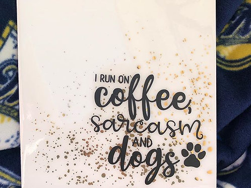 coffee, sarcasm and dogs