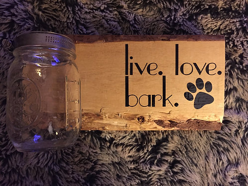 Live. Love. Bark. Treat Jar