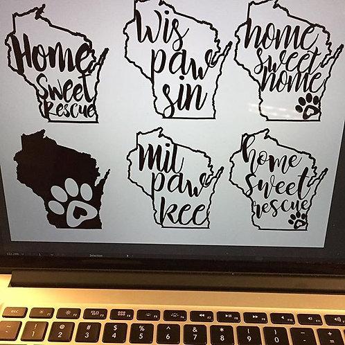 Wisconsin Dog Stickers