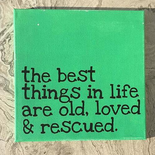 Old, loved & rescued